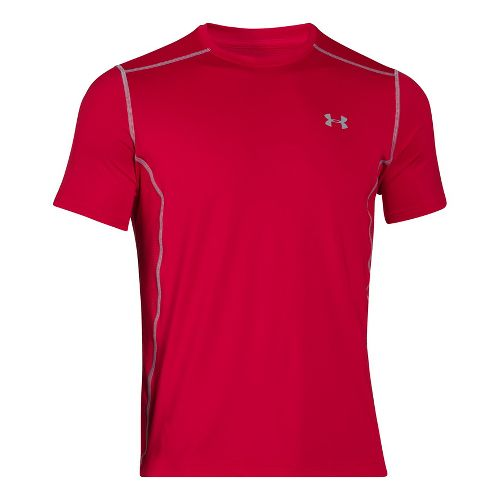 Mens Under Armour Raid Short Sleeve Technical Tops - Red XXL