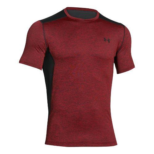 Mens Under Armour Raid Short Sleeve Technical Tops - Red/Black XXL