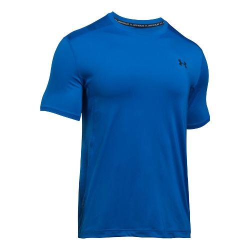 Mens Under Armour Raid Short Sleeve Technical Tops - Blue Marker XL