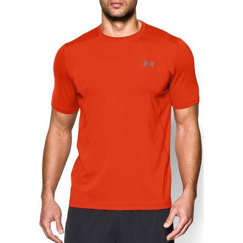 Mens Under Armour Raid T Short Sleeve Technical Tops - Dark Orange 3XLR
