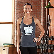 Womens Road Runner Sports Born Fast Graphic Sleeveless & Tank Technical Tops - Heather Navy S