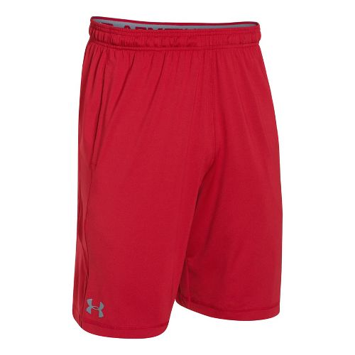 Mens Under Armour Raid Unlined Shorts - Red SR