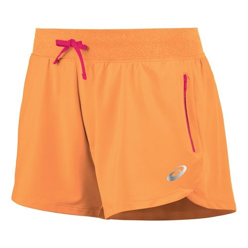 Womens ASICS fuzeX 4 Unlined Shorts - Melon XS