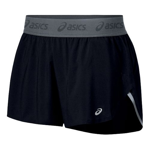 Womens ASICS fuzeX Split Lined Shorts - Black S