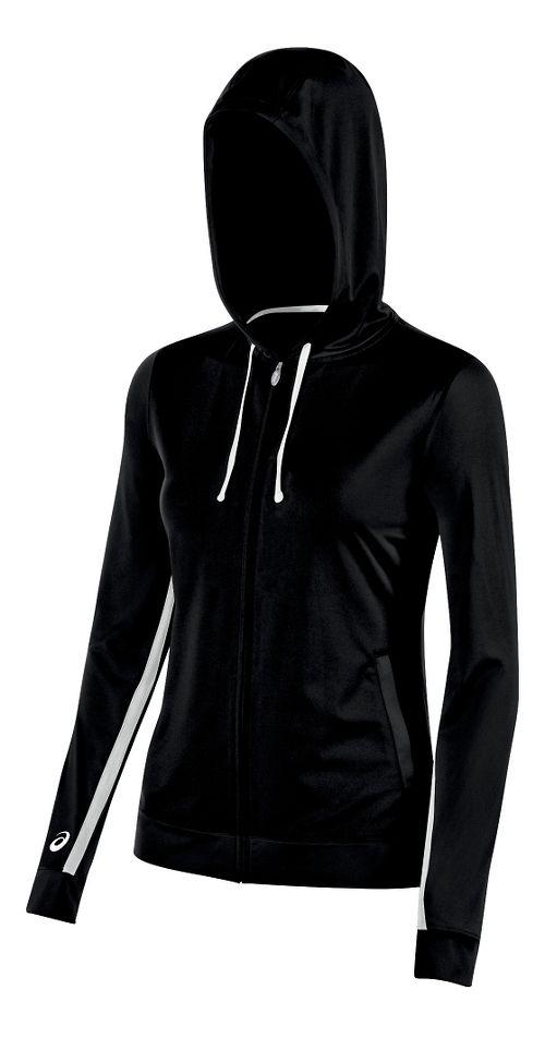 Womens ASICS Lani Jacket Half-Zips & Hoodies Technical Tops - Black M