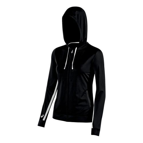 Womens ASICS Lani Jacket Half-Zips & Hoodies Technical Tops - Black L