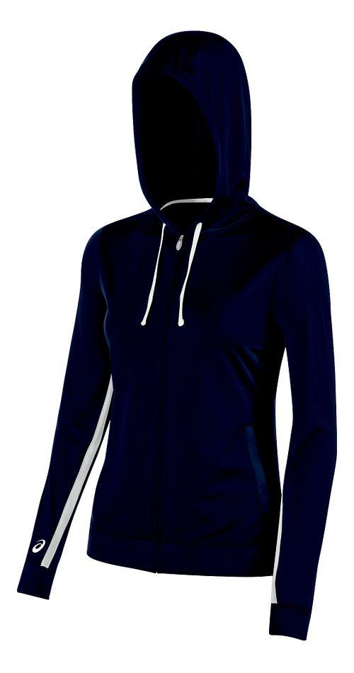 Womens ASICS Lani Jacket Half-Zips & Hoodies Technical Tops - Navy S
