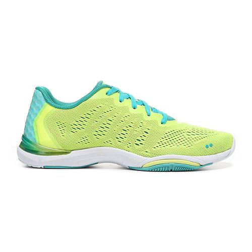 Womens Ryka Achieve Cross Training Shoe - Lime Shock/Teal Blas 5.5