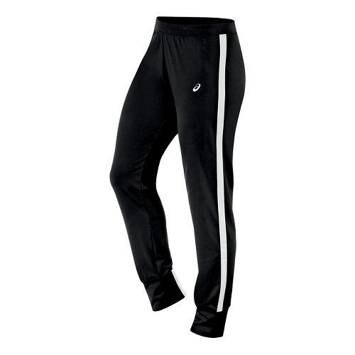 Womens ASICS Lani Tall Pants - Black/White L-T