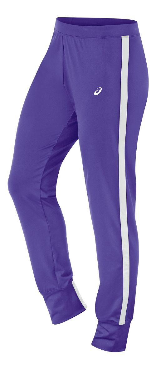 Womens ASICS Lani Tall Pants - Purple/White M-T