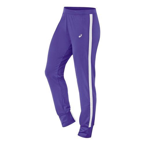Womens ASICS Lani Tall Pants - Purple/White L-T
