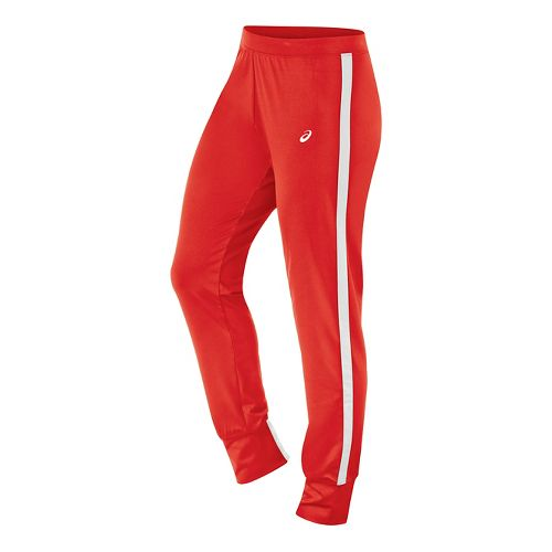 Womens ASICS Lani Tall Pants - Red/White M-T