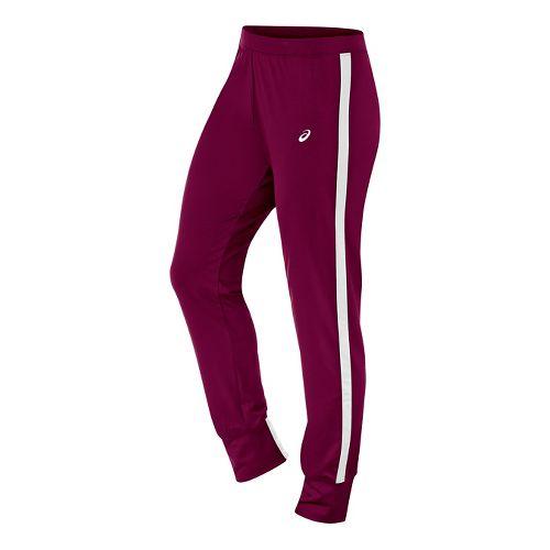 Womens ASICS Lani Tall Pants - Cardinal/White M-T