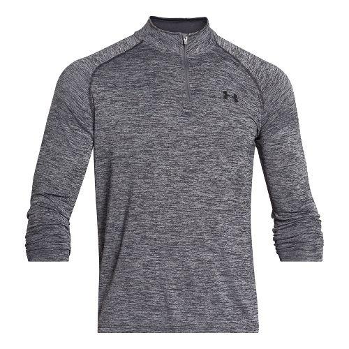 Mens Under Armour Tech 1/4 Zip Long Sleeve Technical Tops - Black/Graphite S