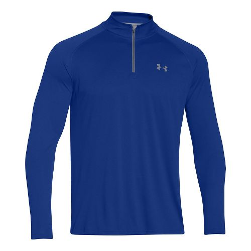 Mens Under Armour Tech 1/4 Zip T Long Sleeve Technical Tops - Royal MR