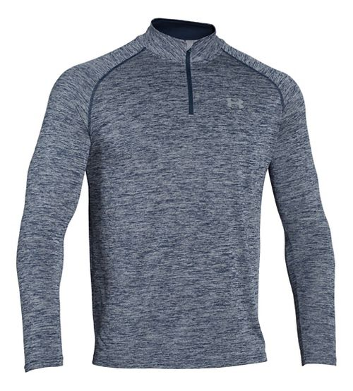 Mens Under Armour Tech 1/4 Zip Long Sleeve Technical Tops - Academy/Steel XL