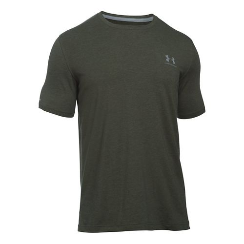 Mens Under Armour Charged Cotton Left Chest Lockup T Short Sleeve Technical Tops - Artillery ...