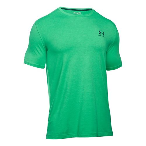 Mens Under Armour Charged Cotton Left Chest Lockup T Short Sleeve Technical Tops - Boost ...