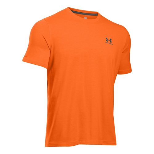 Mens Under Armour Charged Cotton Left Chest Lockup T Short Sleeve Technical Tops - Beta ...