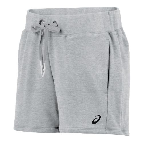 Womens ASICS Knit 5 Unlined Shorts - Heather Grey S