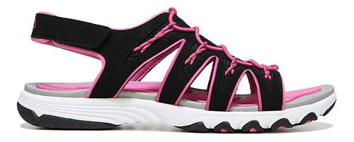 Womens Ryka Glance Sandals Shoe - Black/Pink 7