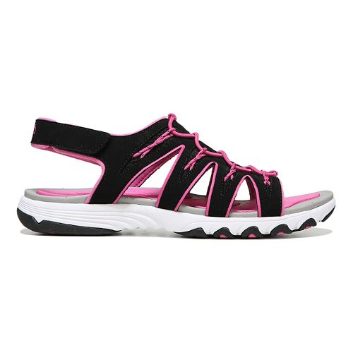 Womens Ryka Glance Sandals Shoe - Black/Pink 9.5
