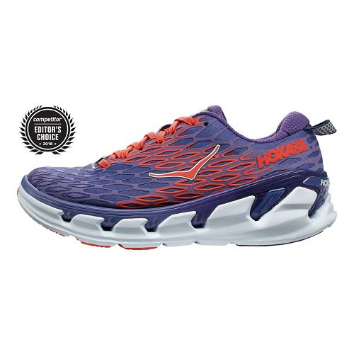 Womens Hoka One One Vanquish 2 Running Shoe - Purple/Red 6.5