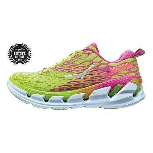 Womens Hoka One One Vanquish 2 Running Shoe - Acid/Fuchsia 5.5