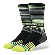 Mens Stance Fusion Athletic Coyote Crew Socks