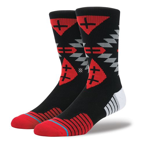 Mens Stance Fusion Athletic Yucatan Crew Socks - Red L/XL