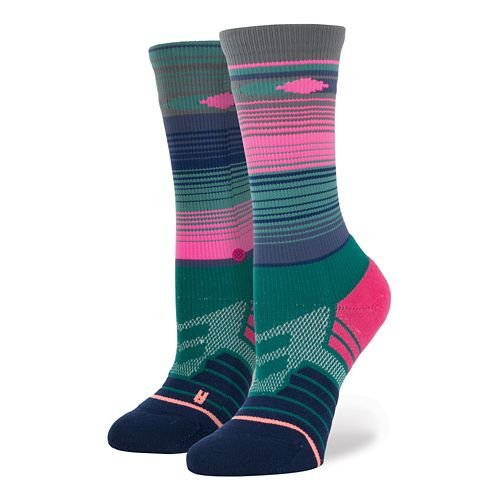 Womens Stance Fusion Athletic Trabajo Crew Socks - Teal S/M