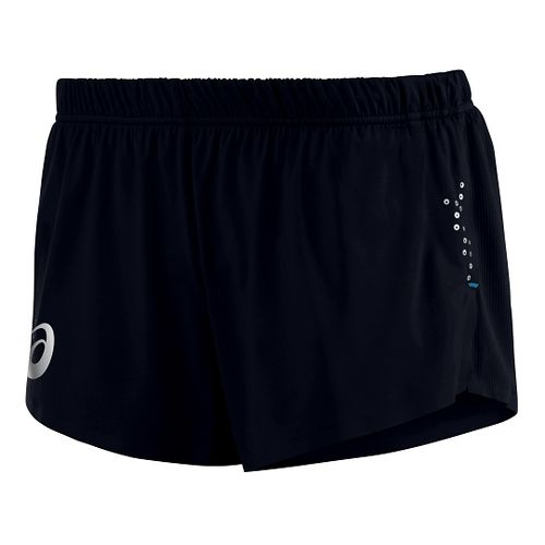 Womens ASICS Top Impact Knit Lined Shorts - Black XL