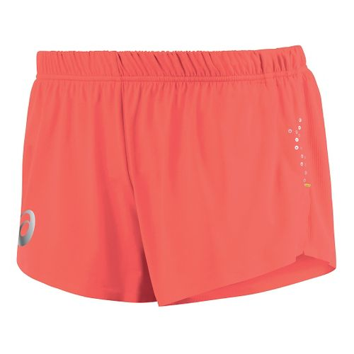 Womens ASICS Top Impact Knit Lined Shorts - Flame XL