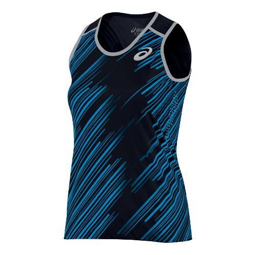 Womens ASICS Impact Singlet Sleeveless & Tank Technical Tops - Black XL