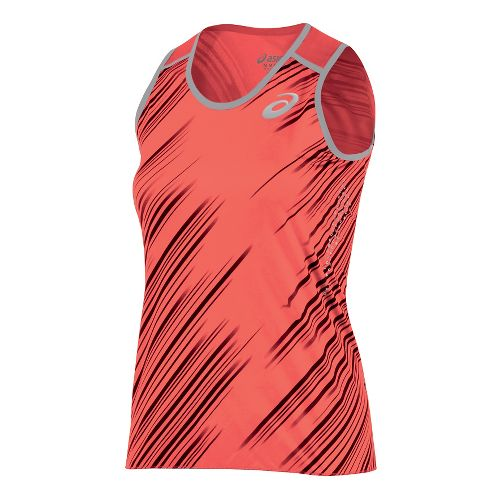 Womens ASICS Impact Singlet Sleeveless & Tank Technical Tops - Flame XS