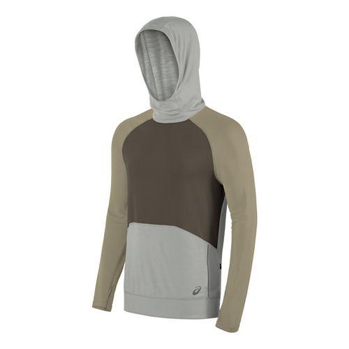 Mens ASICS ASX Dry Hoodie & Sweatshirts Technical Tops - Truffle S