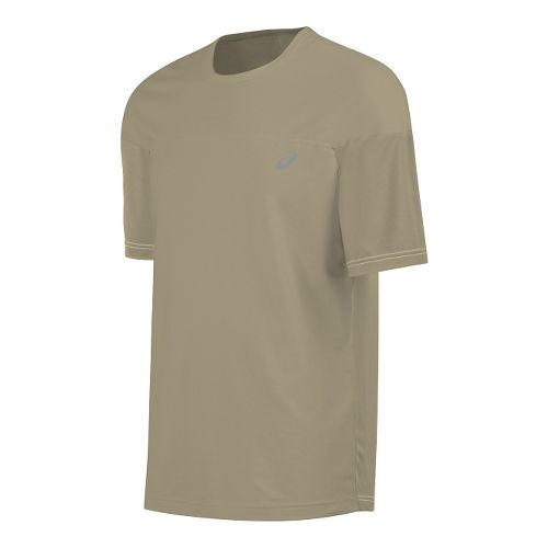 Mens ASICS ASX Dry Short Sleeve Technical Tops - Bark M