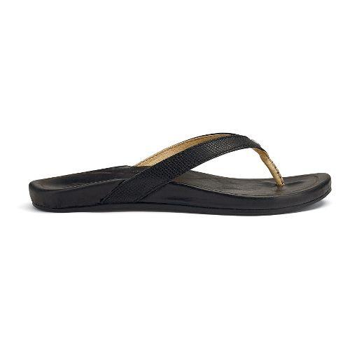 Womens OluKai Hi'ona Sandals Shoe - Black 6
