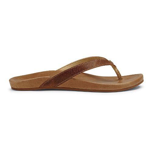 Womens OluKai Hi'ona Sandals Shoe - Tan 5