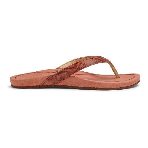 Womens OluKai Hi'ona Sandals Shoe - Dusty Pink 10