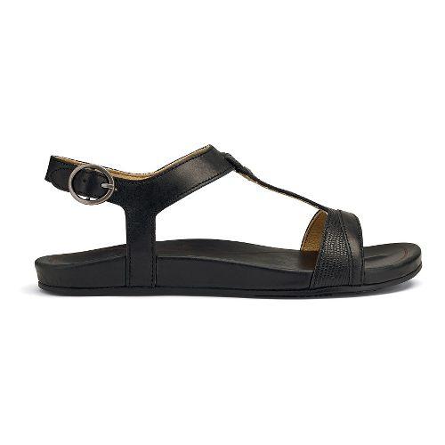 Womens OluKai Hi'ona Sandal Sandals Shoe - Black 6