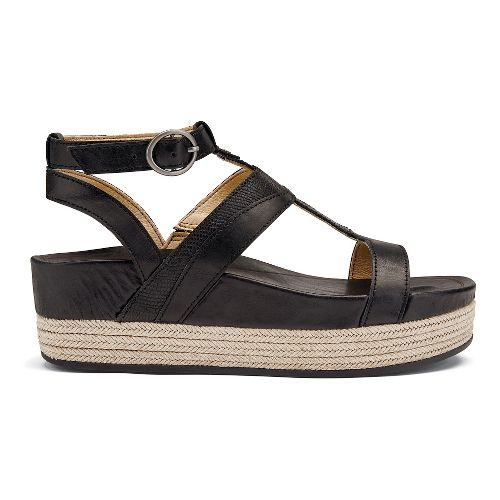 Womens OluKai Hi'ona Loa Sandals Shoe - Black 6