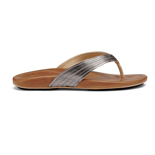 Womens OluKai Wana Sandals Shoe - Pewter/Sahara 11