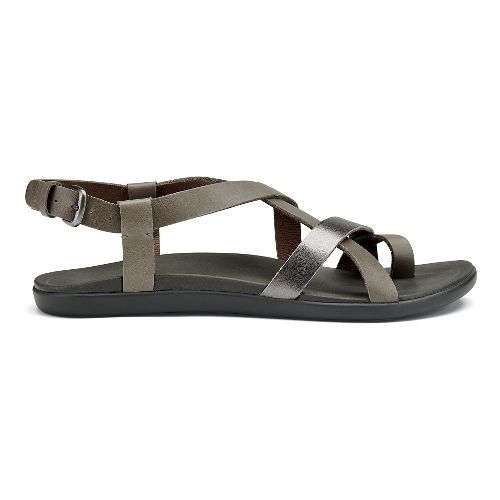Womens OluKai 'Upena Sandals Shoe - Charcoal/Pewter 7