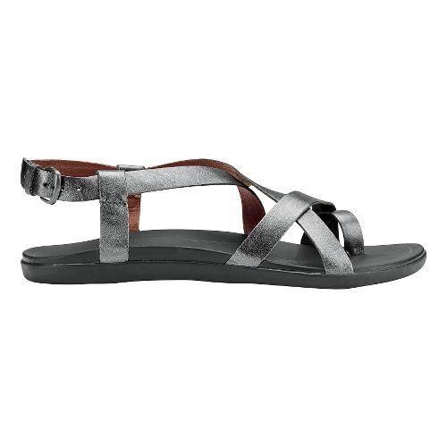 Womens OluKai 'Upena Sandals Shoe - Pewter/Pewter 9