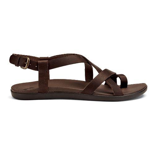 Womens OluKai 'Upena Sandals Shoe - Kona Coffee 8