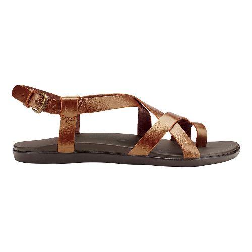 Womens OluKai 'Upena Sandals Shoe - Bronze/Bronze 6