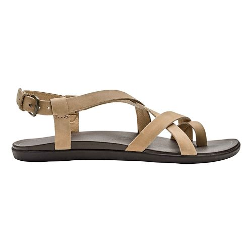Womens OluKai 'Upena Sandals Shoe - Golden/Golden 10
