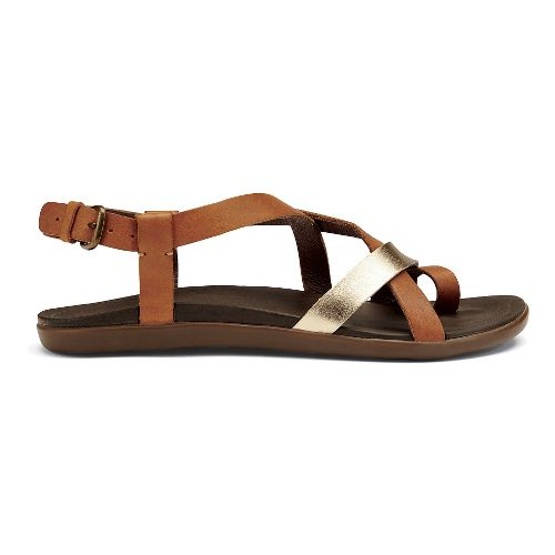 Womens OluKai 'Upena Sandals Shoe - Mustard/Bubbly 9