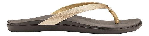 Womens OluKai Ho'opio Leather Sandals Shoe - Bubbly/Dark Java 9